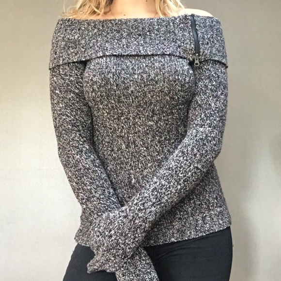 67% off Sweaters - Cozy fold over off the shoulder sweater from ...