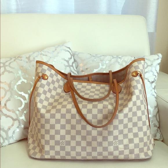 Louis Vuitton Handbags - Authentic Louis Vuitton Neverfull GM Damier Azur 60c3f8e599713