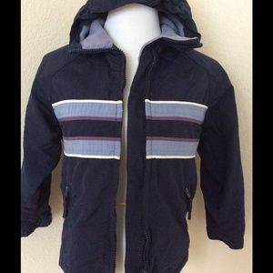 Exhilaration Other - Blue hooded nylon  zipper jacket boys size 6