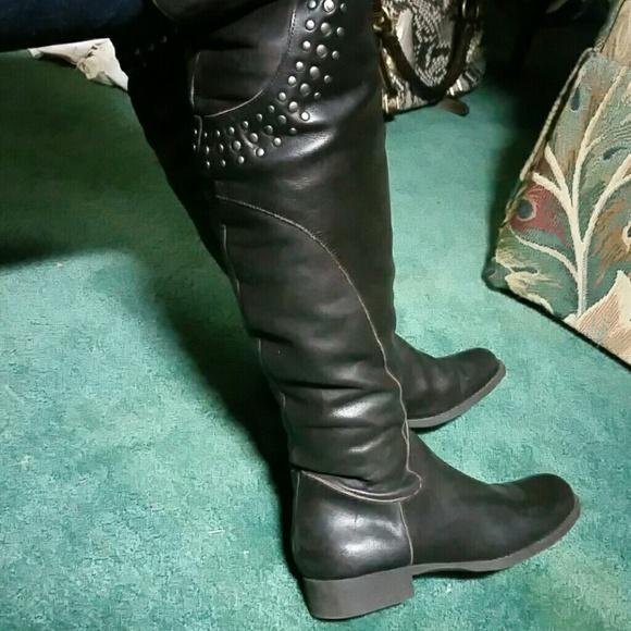 cd1c6cf9a Matisse Shoes   Thunder Road Studs Brown Otk Boots 6   Poshmark