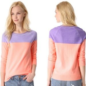 Madewell Sweaters - 🎉HP 1/19 Madewell Neon Color Block Pullover NWOT