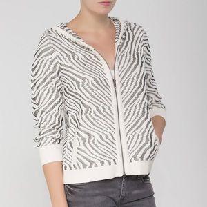 Splendid Sweaters - Splendid Zebra Print Zip Up Hoodie
