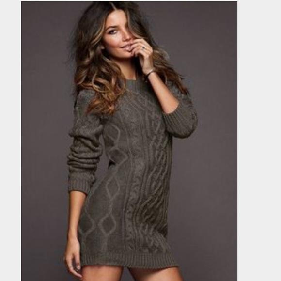 Moda International Dresses Victorias Secret Sweater Dress Olive