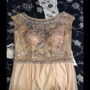 Jovani champagne prom dress size 6