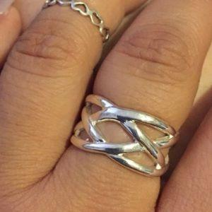 Silver Net Design Ring