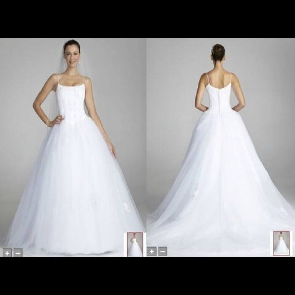 87 off david 39 s bridal dresses skirts guc david 39 s for David s bridal princess wedding dresses