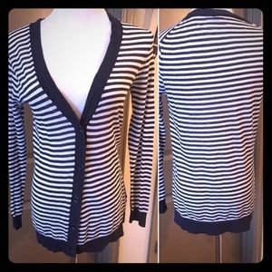 J. Crew striped cardigan