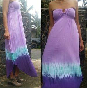 Tiare Hawaii Dresses & Skirts - Tiare hawaii florence purple strapless maxi dress