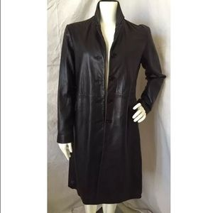 Barneys New York CO-OP Jackets & Blazers - Barneys NY Co-Op Black Leather Lined Trench Coat