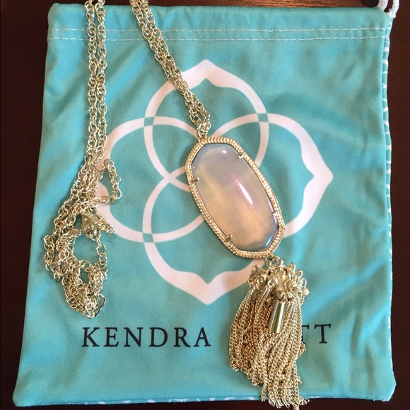 Kendra Scott Jewelry Slate Iridescent Rayne Necklace In Gold