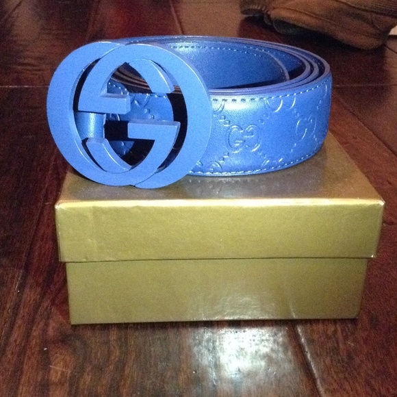 d962ebeb85763 All blue gucci belt