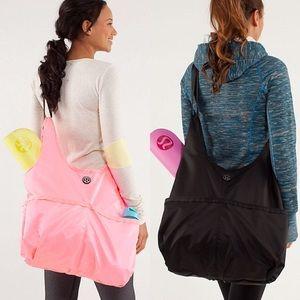 lululemon athletica Handbags - LULULEMON neon orange Post Savasana Tote gym bag