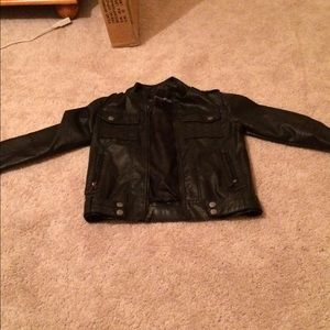 All leather jacket size 14/16 Large (kids)