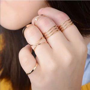 6 piece knuckle ring set