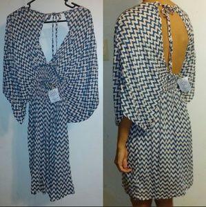 Tiare Hawaii Dresses & Skirts - New tiare hawaii haiku short dress mini blue wave