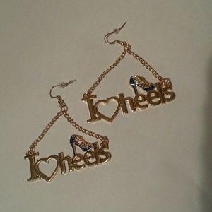 Jewelry - NWT'S  I love  heels  earrings#FREE With BUNDLE