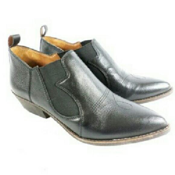 Lucky Brand Joelle Black Cowboy Booties