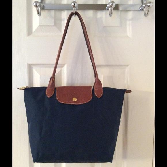 680fdfc6fca Longchamp Bags   Navy Blue Le Pliage Tote Bag   Poshmark