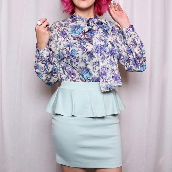 Forever 21 Dresses & Skirts - Mint Peplum Skirt NWT