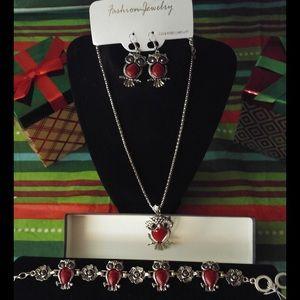 BUNDLE Fashion Jewelry Owl Family