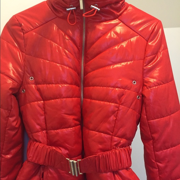 60% off H&M Jackets & Blazers - H&m Red bubble jacket from ...