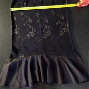 lable missing Skirts - Vintage black floral skirt