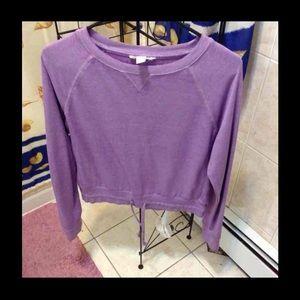 Light purple mid crop sweater