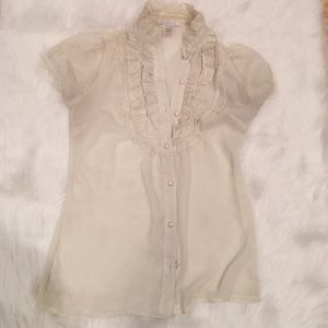 Charlotte Russe Sheer Ruffle Top