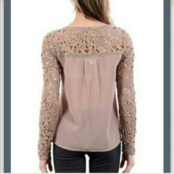 65% off Tops - Blush color lace top from Blair's closet on Poshmark