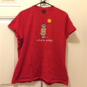 Like New Cute Red Robot Shirt XL