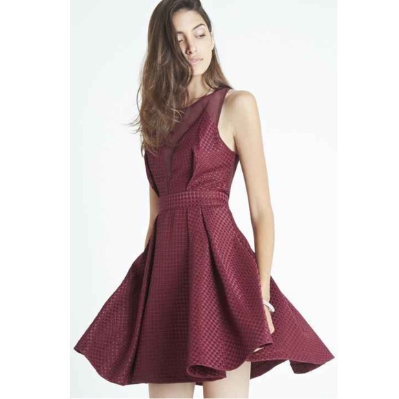 17b6ada3dd BCBGeneration Dresses | Bcbg Illusion Neck Chiffon Fit And Flare ...
