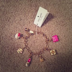 Kate spade link bracelet with charms