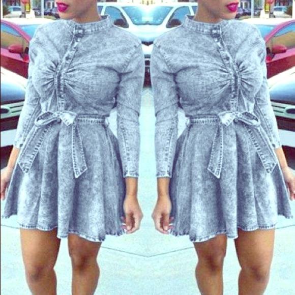 Forever 21 Dresses | Plus Size Denim Skater Dress Size 2x | Poshmark