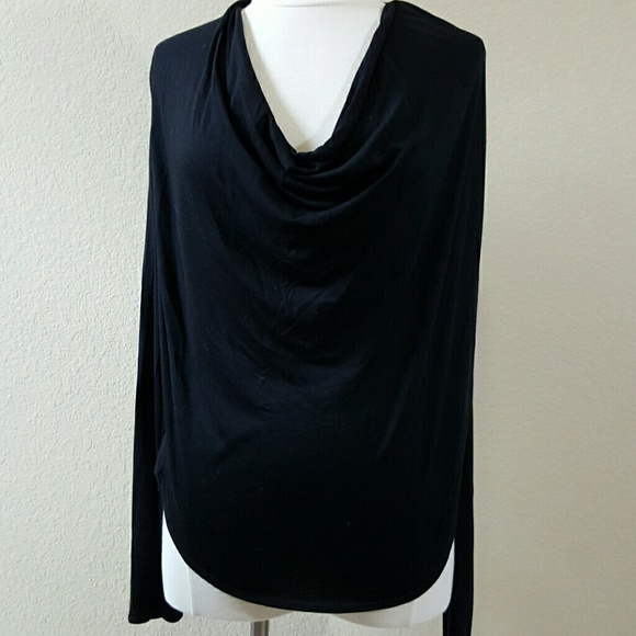 5ede31ce469500 Helmut Lang Tops - Helmut Helmut Lang black knit cowl neck top