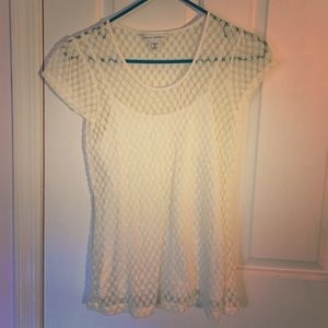 Banana Republic lace tee with cami
