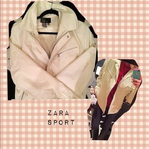 Zara Jackets & Blazers - Zara Sport Light Tan Spring Jacket (M)