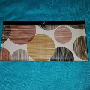 Handbags - Clasp wallet  with circles