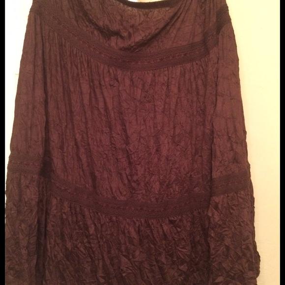 Brown Crinkle Skirt 48