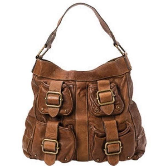 e40837f3e096 Banana Republic Handbags - Banana Republic Cognac Leather Ashbury Hobo Bag