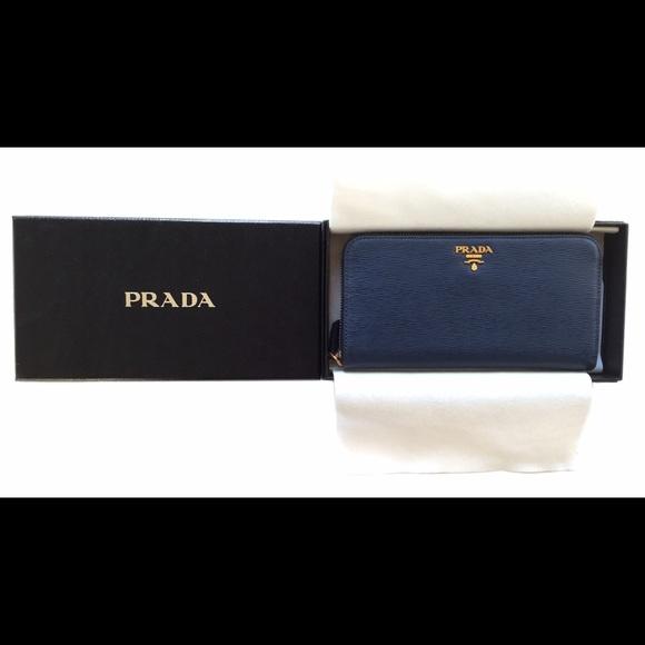 cd01a509805184 Prada Bags | Vitello Move Zip Around Continental Wallet | Poshmark