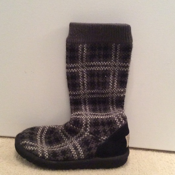 Ugg Shoes Plaid Knit Boots Poshmark