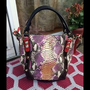 Mario Orlandi Handbags - Very Rare Marino Orlandi Designer Pink Piton Bag