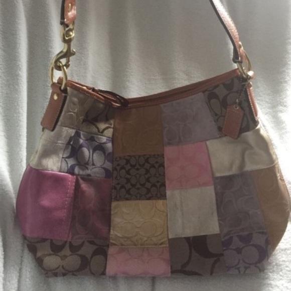 Authentic COACH Tan Leather Hobo Handbag Purse # 10740 ...