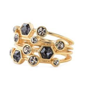 Jewelry - Gray gold statement ring jewel crystal multi