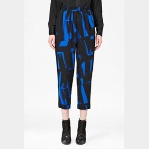 French connection brushstroke printed pants
