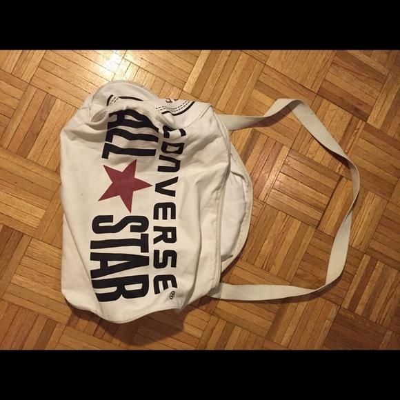 converse all star bag white