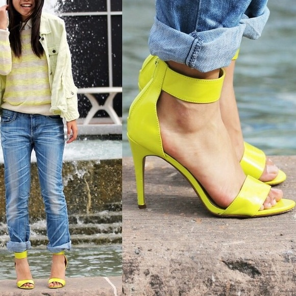 H&M - H&M neon yellow ankle strap heels from Hannah's closet on ...