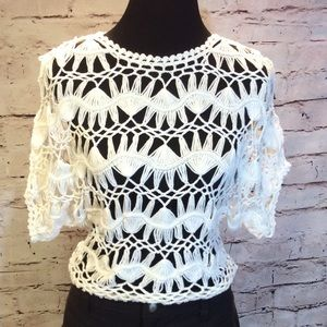 Versona Sweaters - 🎉HP🎉GORGEOUS CROCHET SWEATER BY VERSONA