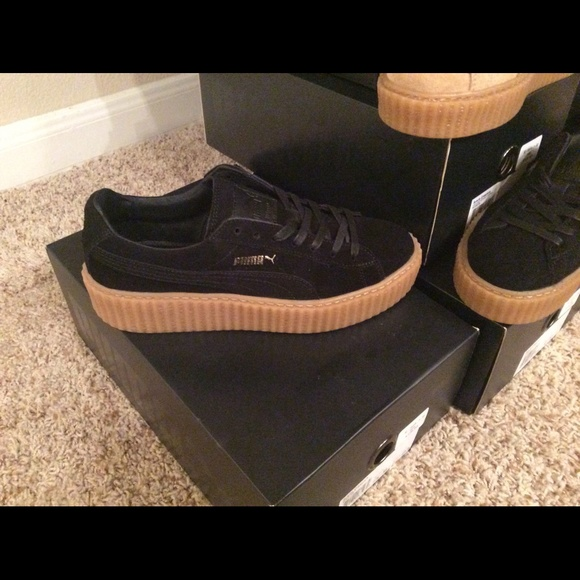detailed look 4cfb1 e6a30 🎯SOLD🎯 Women's PUMA X RIHANNA SUEDE CREEPER Boutique