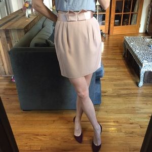 H&M Light Pink Blush Fitted Skirt